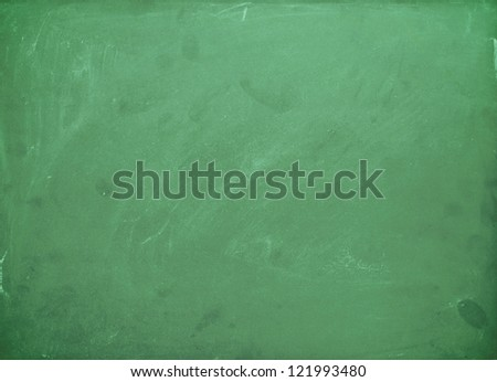 Green chalk board background - stock photo
