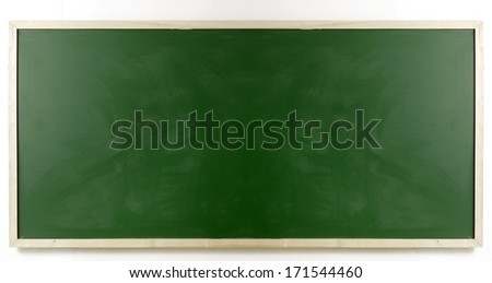 green chalk board withe clipping path