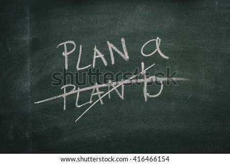 Green Chalkboard plan - stock photo
