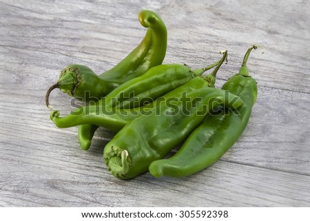 Green Chile - stock photo