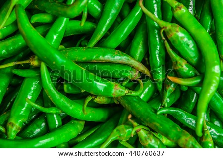 green chilli.Background and texture