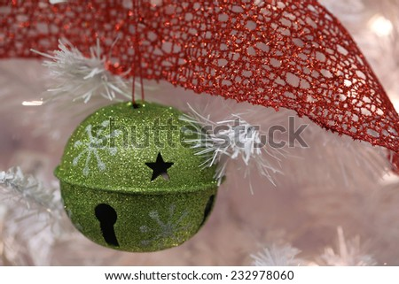 green Christmas bell - stock photo