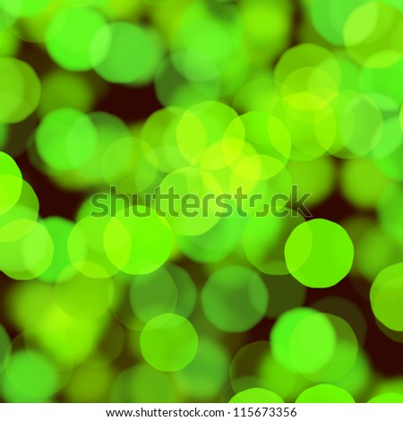 green christmas bokeh
