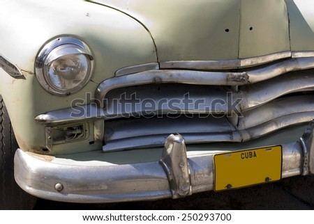 Green Classic Old Car - stock photo