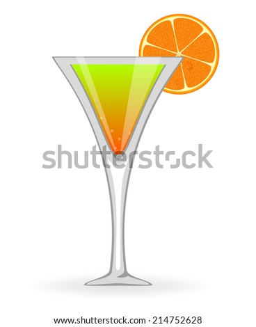 Green cocktail. Raster version  - stock photo