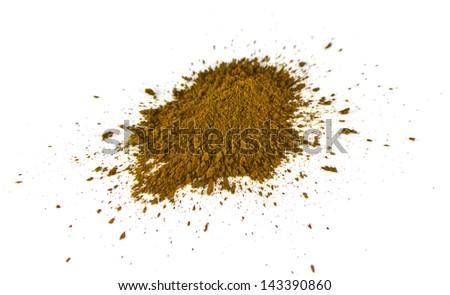 green coffee powder on the white background - stock photo