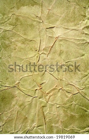 Green color painted background. Art is painted by photographer. - stock photo