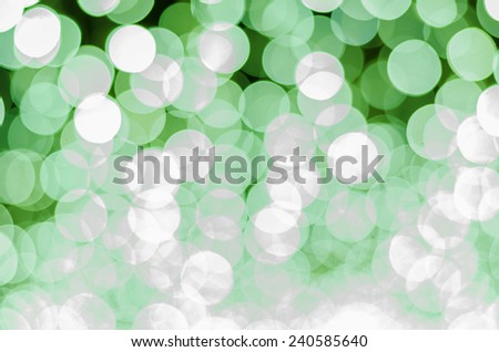 green color tone bokeh background - stock photo