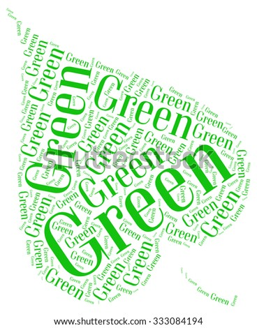 Green concept info text collage Composed in the shape of leaf an isolated on white  - stock photo
