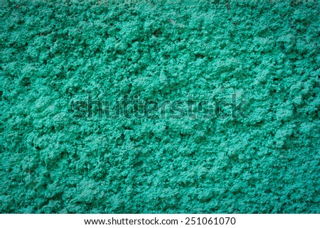 Green concrete wall texture for background usage with vintage effect