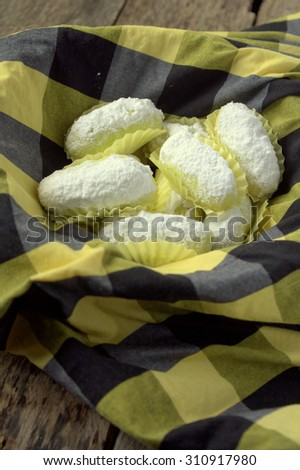 Green cookies with white sugar icing on top. Selective Focus - stock photo
