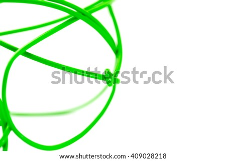 green cord on white abstraction