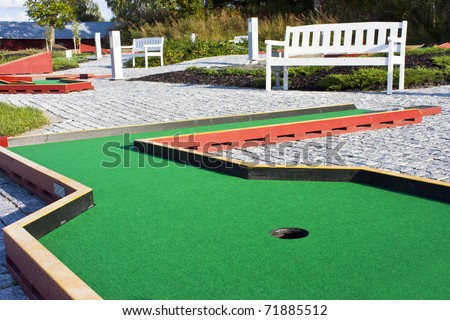 Green  course. - stock photo