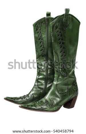 Green Cowboy Boot Stock Photos, Royalty-Free Images & Vectors ...