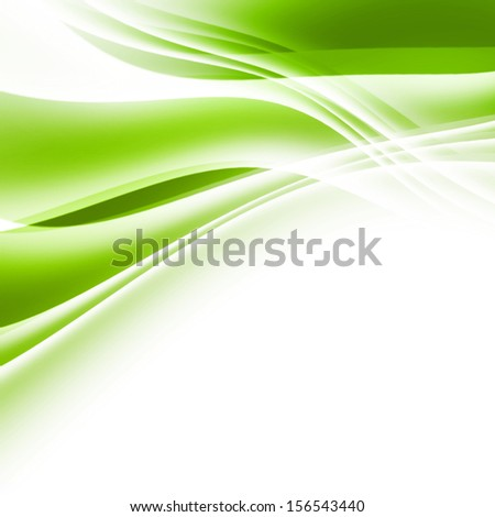 Green Curved Background - stock photo
