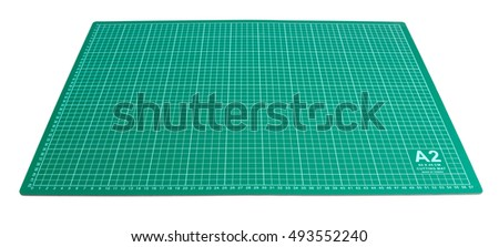 Green Cutting mat isolated on white