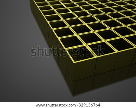 Green 3D Cubes background business concept rendered