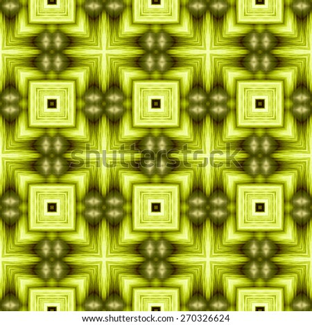green Decorative seamless pattern in ethnic geometric style - stock photo