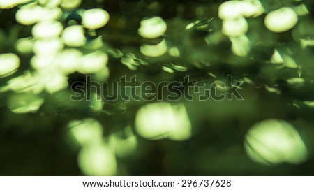 Green defocused lights or Lights on green background or Abstract winter background or Glitter Disco. - stock photo