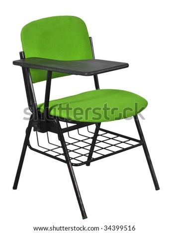 green desks under basket - stock photo