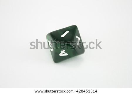 green dice  - stock photo