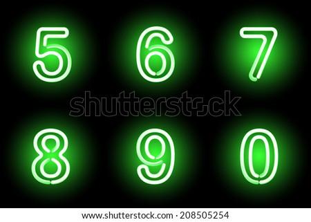 Green  digits.  illustration. - stock photo