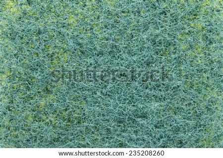 Green Dishwashing sponge detail - stock photo