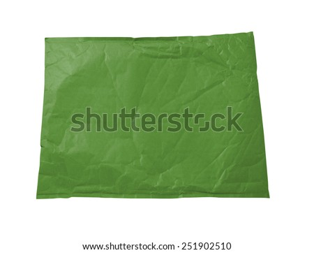 Green document envelope - stock photo
