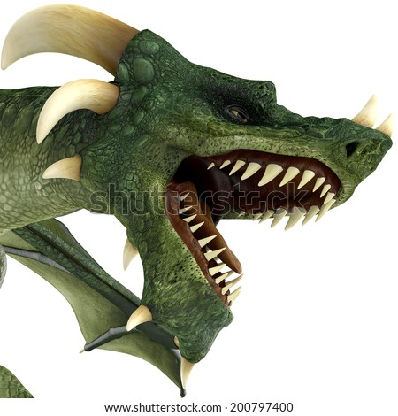 green dragon in the byte - stock photo