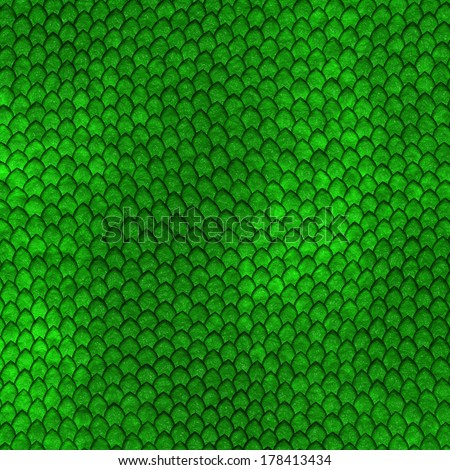 Green Dragon scales pattern - stock photo