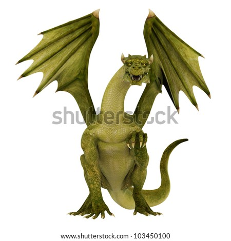 green dragon waiting for you - stock photo