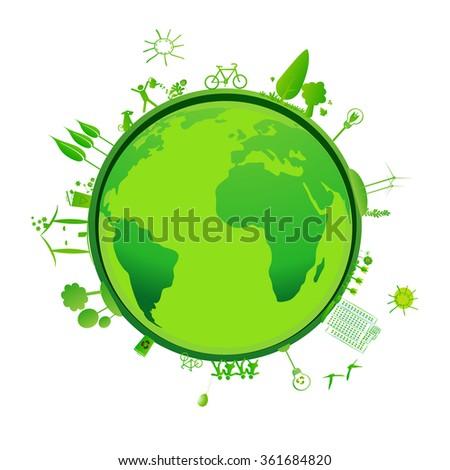 green earth - stock photo