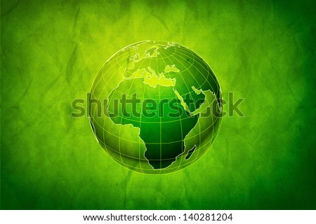 Green Earth concept, abstract grungy backgrounds with cardboard texture - stock photo
