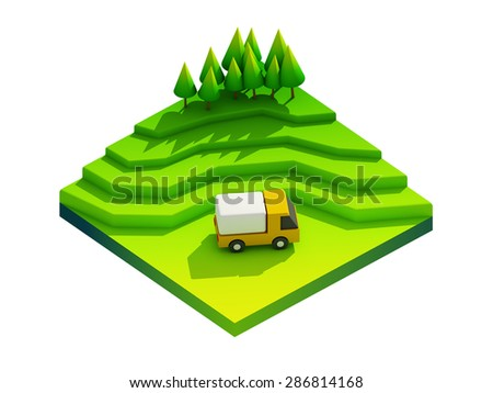 green earth concept in isometric view - stock photo