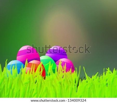 Green Easter Background - stock photo