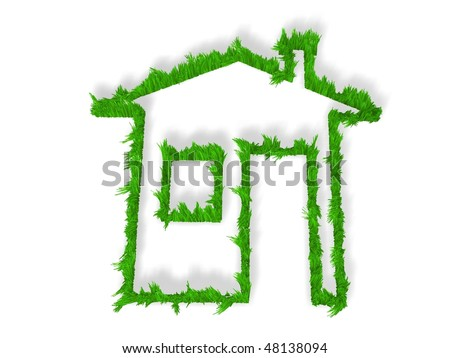 Green echo house metaphor