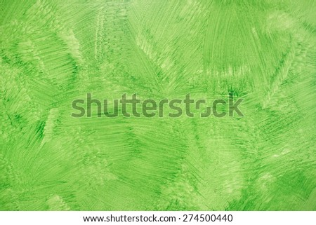 Green ecological background - Grunge hand painted textured wallpaper - Modern varnish matt for interior walls and eco architecture - Natural vivid ecology seamless backdrop for modern buildings - stock photo