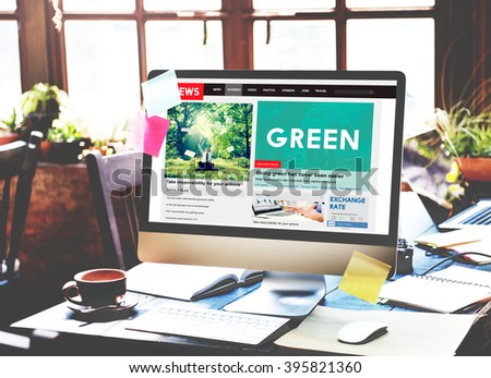Green Ecology Environmental Eco Earth Concept - stock photo