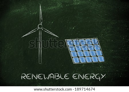 green economy and sustainability: solar and wind energy
