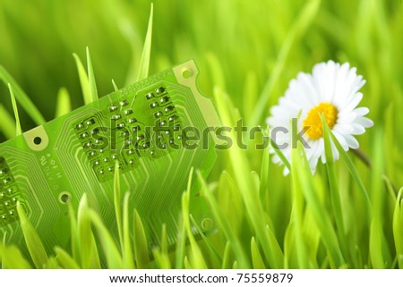 Green electric technology - stock photo