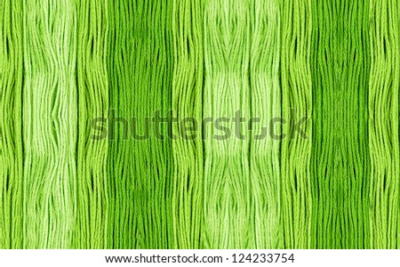 Green Embroidery Yarn - stock photo