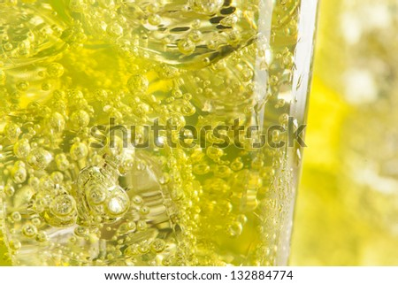 Green Energy Drink Soda against a background - stock photo