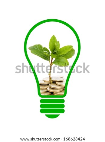 Green Energy with White Background