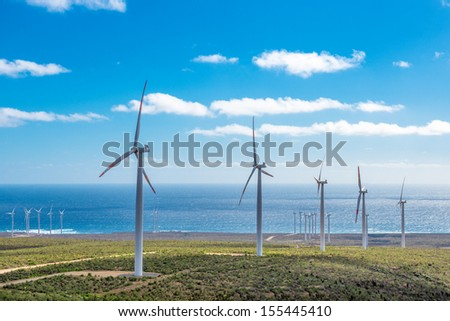 Green eolic energy in Chile - stock photo