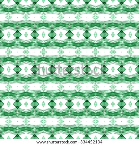 green ethnic pattern background