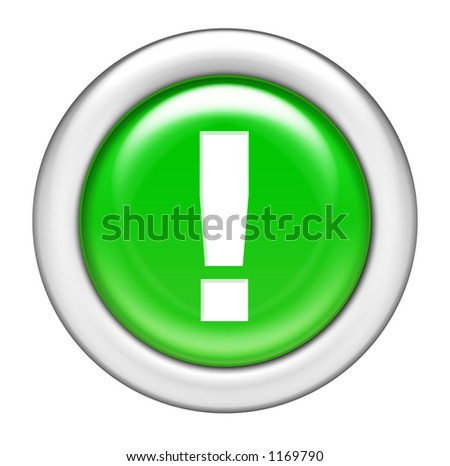 Green Exclamation Button