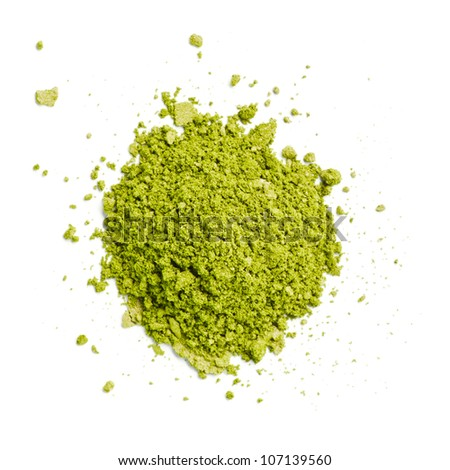 Green Eye Shadow - stock photo