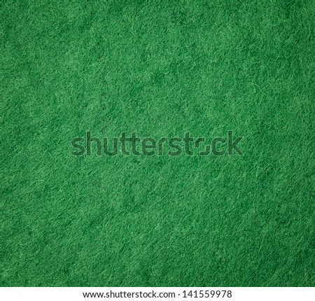 Green felt fabric for background - stock photo