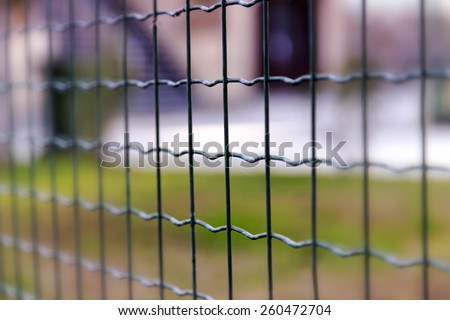 green fence - stock photo