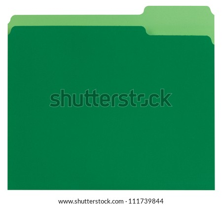 Green File Folder - stock photo